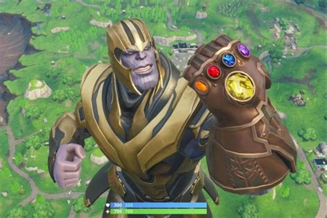 thanos heading   fortnite  time  endgame