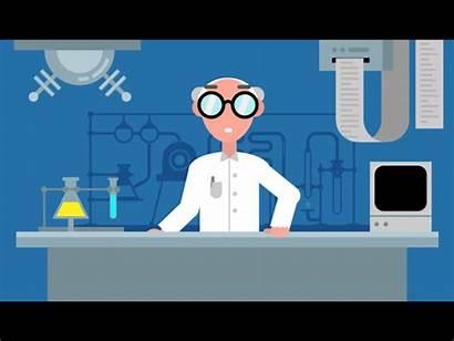 Scientist Dribbble Science Animation Laboratory Professor Flat