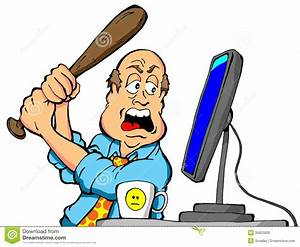 Clipart frustrated person at computer - Clipart Collection ...