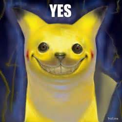Creepy Meme Pikachu