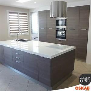 cuisine avec ilot central contre un mur wrastecom With meuble de cuisine ilot central 9 une cuisine quatre styles quelle sera votre preferee
