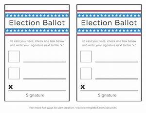 voting printables for kids learning liftoff With election ballots template