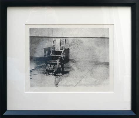andy warhol electric chair auction electric chair from retrospective series by andy warhol