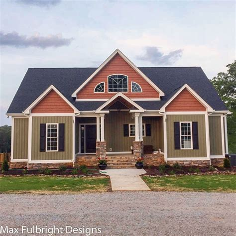 bedroom house plan craftsman home design  max fulbright
