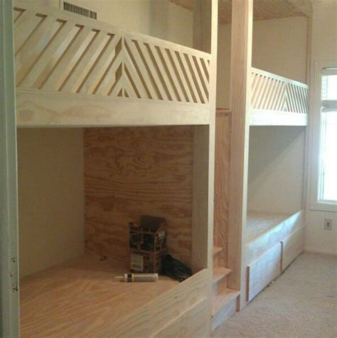 diy bunk bed plans  stairs woodworking projects plans