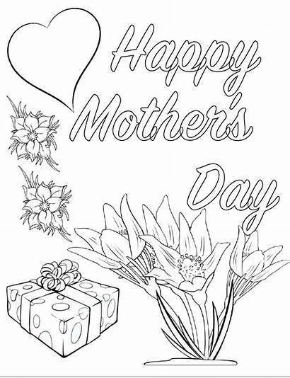 Coloring Pages Printable Mother Pdf Mothers Mom