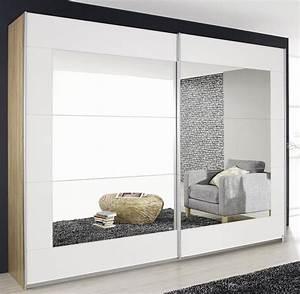 Glasschiebetür Mit Spiegel : schwebet renschrank kleiderschrank 2 trg eiche sonoma ~ Sanjose-hotels-ca.com Haus und Dekorationen