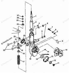 Polaris Atv 1998 Oem Parts Diagram For Front Strut