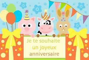 Carte Anniversaire Pour Enfant : cartes virtuelles souhait anniversaire enfant joliecarte ~ Melissatoandfro.com Idées de Décoration