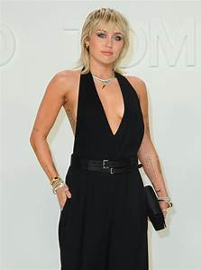 MILEY CYRUS at Tom Ford Fashion Show in Los Angeles 02/07 ...