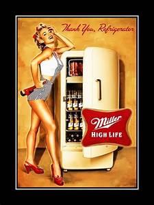 ArleyArt com: Miller High Life Beer Kitchen Bar Fridge Pin