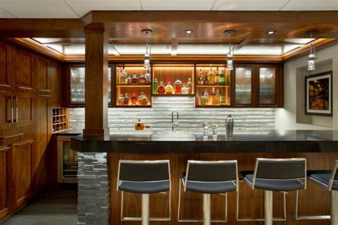 elegant transitional home bar designs  entertain