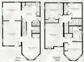 two story home plans two story house plans