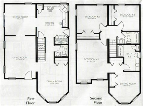 2 floor house plans two house plans