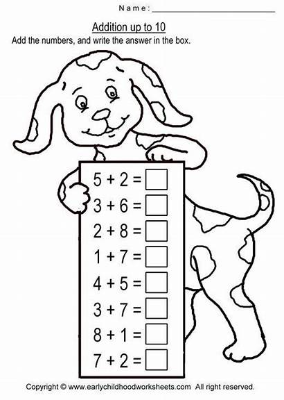 Addition Math Worksheets Worksheet Para Coloring Pages