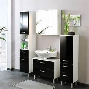 Badezimmer Hängeschrank Weiß : bad h ngeschrank enilia in schwarz hochglanz ~ Watch28wear.com Haus und Dekorationen