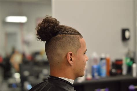 Man bun with bald/skin fade step by step how to   YouTube