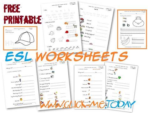 printable esl worksheets  beginners