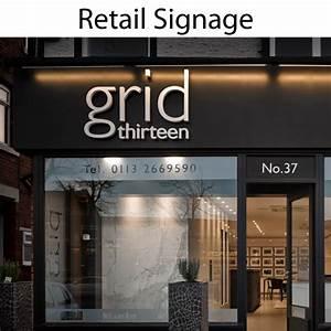 Retail, Signage