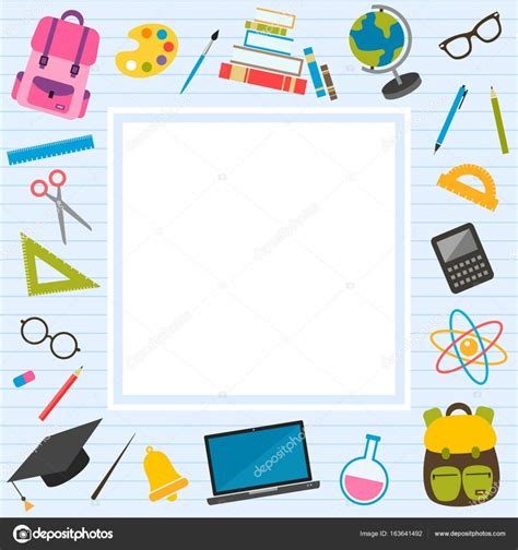 frame with back to school theme elements stock vector 169 ann precious 163641492