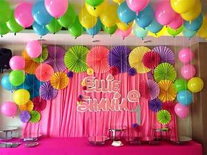 Birthday party wall decorations