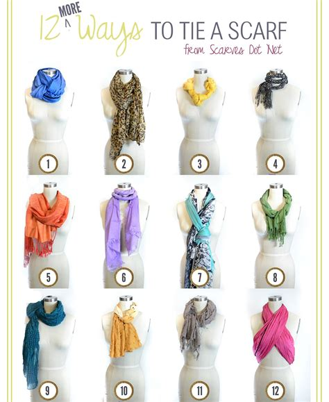 linen cotton scarf 12 more ways to tie a scarf for every season