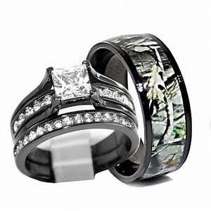 his and hers 925 sterling silver titanium camo wedding With camoflage wedding rings