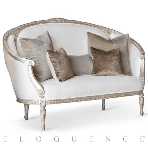 sofa canape eloquence versailles canape sofa in silver leaf kathy