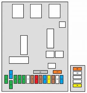 Peugeot 307 Cc  2007 - 2008  - Fuse Box Diagram