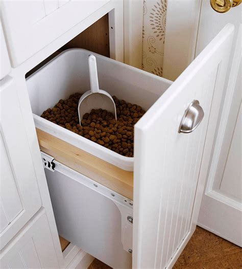 pet food cabinet pet food storage cabinet traditional kitchen bhg