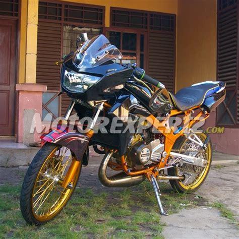 foto montor ninja  motor terong modifikasi balap ninja