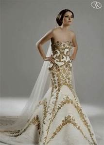 white and gold wedding dress naf dresses With golden dresses for a wedding
