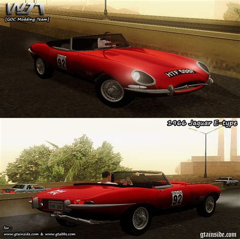 Gta San Andreas 1966 Jaguar E-type Mod