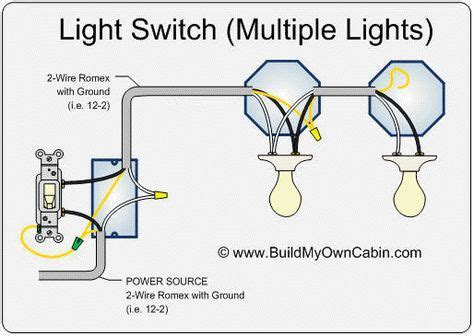 wire  switch  multiple lights light switch