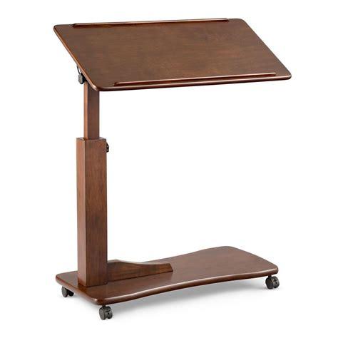 bedside table laptop desk wooden bedside table adjustable tilt desk rolling hospital