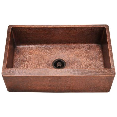 copper apron kitchen sink mr direct farmhouse apron front copper 33 in single basin 5782