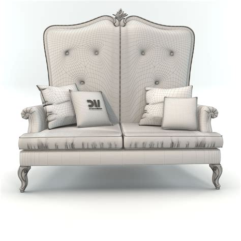 High Back Sofa by High Back Classic Sofa By Dv Home Collection 3d