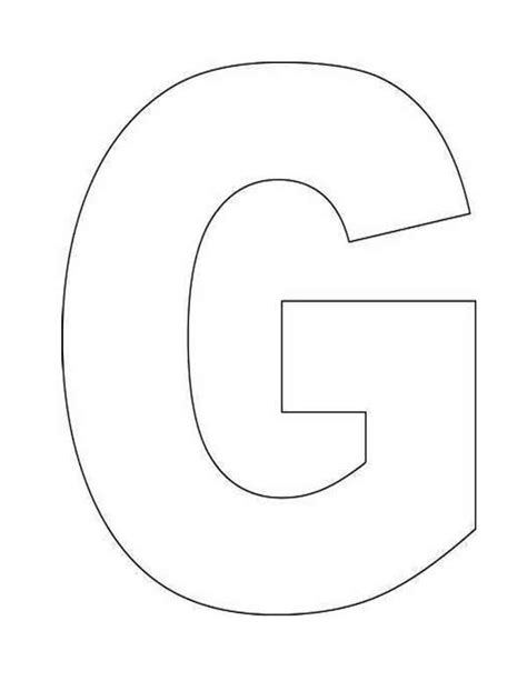 Letter G Coloring Page Coloring Letter G Coloring Sheet Coloring Pages