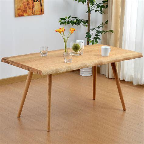 table et chaise de cing chêne blanc bois massif table à manger simple et moderne