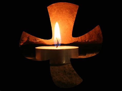 image of candle wall taize cross with candle i made this out of the