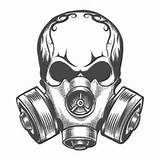 Mask Gas Drawing Steps Draw sketch template