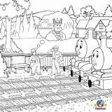 Coloring Train Engine Steam James Thomas Printable Tank Percy Colouring Drawing Wolf Adult Popular Sodor Library Ticket Visiting Rail Station sketch template