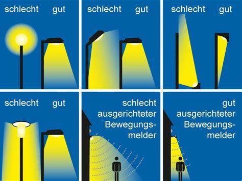 Richtig beleuchten und Lichtverschmutzung vermeiden