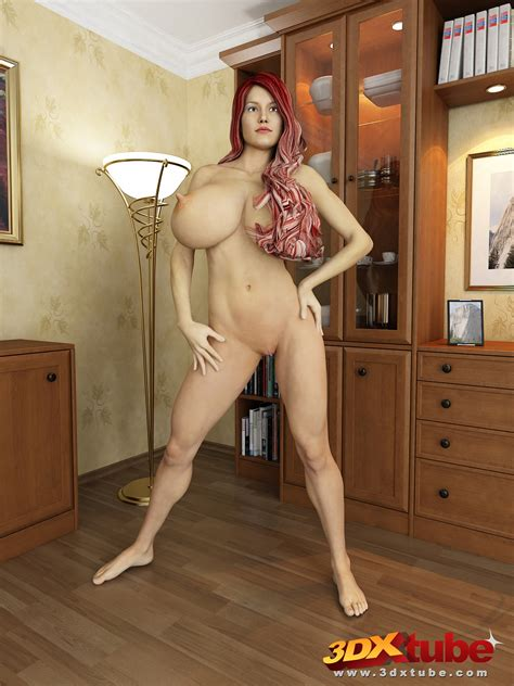 big tits mom with pink hair and huge melons is posing at home cartoon sex tube