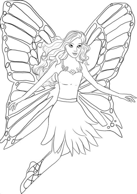 Fairy Coloring Pages ColoringBay