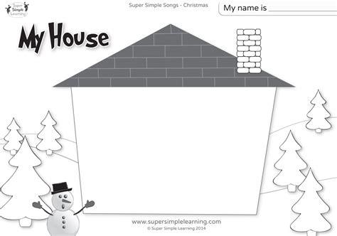 santa    worksheet  house super simple