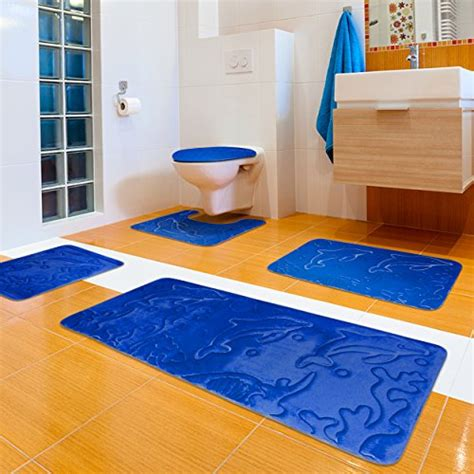Bathroom Mats Price by 5 Bathroom Rugs Set Soft Non Slip Memory Foam
