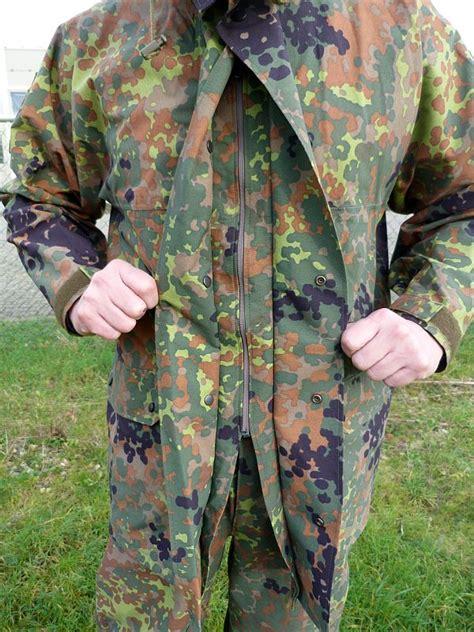 flecktarn camouflage goretex regenpak jas en broek militaria