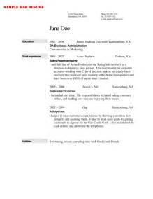 resume exle for bartender bartender resume exle template learnhowtoloseweight net