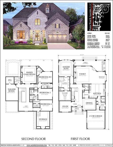 unique  story house plan floor plans  large  story homes desi preston wood